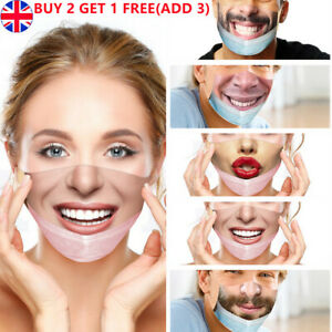 Printed Funny Face Mask Breathable Washable Mouth Protection Reusable Cover