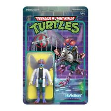 SUPER7 Teenage Mutant Ninja Turtles Baxter Stockman ReAction Figure 3.75""