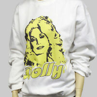 DOLLY PARTON WESTERN COUNTRY SWEATSHIRT unisex WHITE JUMPER S-3XL