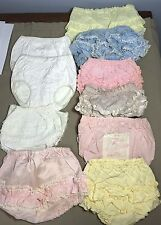 Vtg Rubber Diaper Pants Cover Lot 10 Pair Ruffle Plastic infant baby 1970s