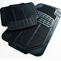 Rubber Car Mats Heavy Duty 4pc None Smell & Slip Vauxhall / Opel Astra G H F PVC