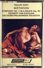 LONDON CASSETTE 1978 Beethoven KARAJAN Symphony #7 STS5-15107