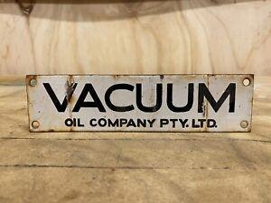 Original Vacuum Mobiloil Mobil Enamel Bowser Sign