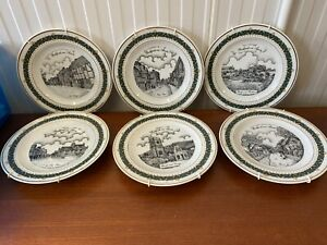 6 X BIDFORD ON AVON Collection Plates Gerald Swan Limited Ed.
