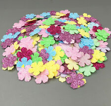 144 × Mini-Papier-Imitat-Rosen-Blumen Handgemachte Karte bastelt DIY L2V8