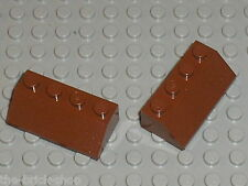 LEGO 2 RedBrown Slope Bricks ref 3037 / Set 7662 10144 10223 71006 9491 7946 ...