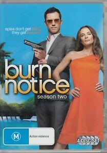 Burn Notice : Season 2 (DVD : 4-Disc Set) Series Two Second - REGION 4 AUSTRALIA