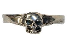 Grinning Skull Ring .925 sterling silver Biker Heavy Metal Gothic feeanddave