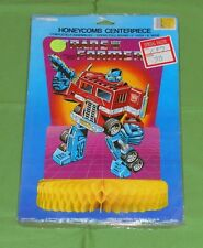 vintage TRANSFORMERS HONEYCOMB CENTERPIECE new/sealed Optimus Prime