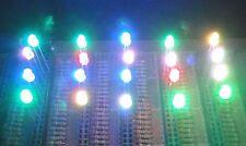 50 RGB 3mm Slow Color Change LEDs Free Resistors