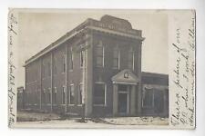 1907 First National Bank of Spencer, Nebraska RPPC