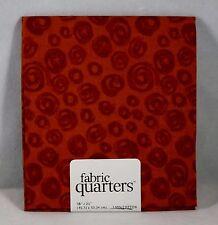#102 Fabric Quarters 100% Cotton Pre Cut Fat Quarter - New - Brown with Swirls