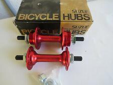 SUZUE NOS HUBS RED 36 HOLE BMX FREESTYLE CRUISER BICYCLE VINTAGE