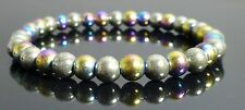 Pyrite Rainbow Magnetic Hematite Bracelet