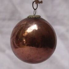 Vintage Glass Original Cherry Color Christmas Kugel,japan K 03