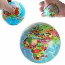 Balle en gomme Globe terrestre - Planète terre antistress rebondissante - Cadeau