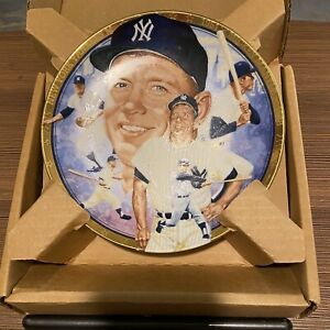 """MICKEY MANTLE 1992 Hamilton Collection Best of Baseball Plate 6 1/2"""""""