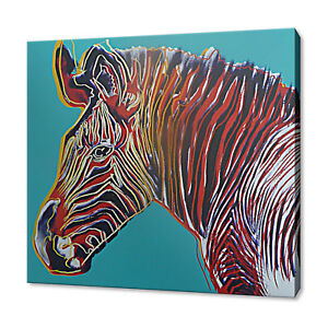 ANDY WARHOL ZEBRA CANVAS PICTURE PRINT WALL ART HOME DECOR FREE DELIVERY
