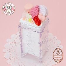 My Melody 40th Anniversary Dolce Deco Cotton Puff Case ◆ Sanrio Japan New Sweets