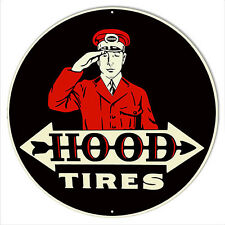 Hood Tires Reproduction Gas Station Metal Sign 14x14