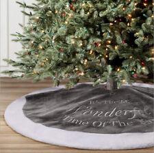 90cm Luxury Christmas Tree Skirt Faux Fur Mat Home Xmas Ornaments Party Decor