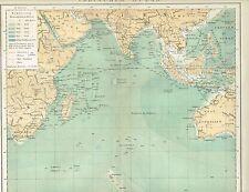 Karte INDISCHER OZEAN Original-Graphik 1894