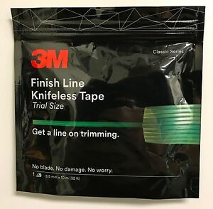 1 roll 3M FINISH LINE KNIFELESS TAPE, GRAPHICS WRAPS 1/8''X10 meter - 3M Brand!