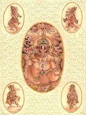Ganesha Hindu Miniature Art Handmade Lord Ganesh Indian Religious Decor Painting