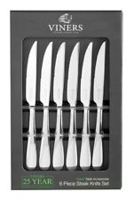Viners Select 18/0 Stainless Steel Dinner Steak Knives - Set of 6