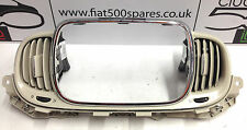 Fiat 500 stereo surround and heater vents in cream 2016 onward
