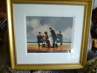 JACK VETTRIANO,ELEGY FOR THE DEAD ADMIRAL,HAND SIGNED LTD EDITION,FRAMED,LOOK>>>