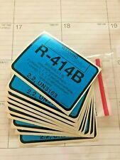 R-414B EPA Approved Refrigerant  Label Sticker, Diversitech 04414, Pkg. 10