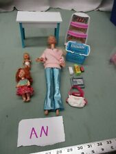 Barbie & Other Miscellaneous Toy Box Lot An Changing Table Crib Baby Rest Sleep