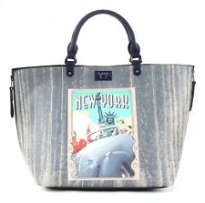 Y NOT? Borsetta Postcards Reversible Shopper Borsa L New York