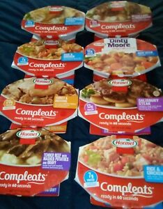 Hormel Compleats Variety Pack of 8 Pre Packed Ready to Eat Dinners