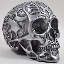 SCULTURA Teschio Tribale Argento Ornamento pesanti Design CLINICA Gotico Decor 16086