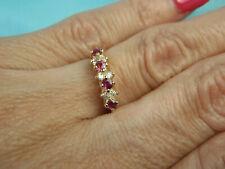 14k Yellow Gold .25ct Diamond & Ruby Women's Ring 2.1g Ladies Estate Size 5 3/4