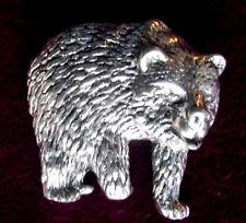 Zinn Teddy Grizzlybär Pin: Handwerker HOCHWERTIGES