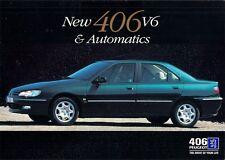Peugeot 406 V6 & Automatic Saloon 1996-97 UK Market Launch Sales Brochure