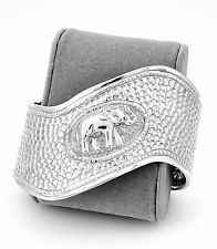 Sterling Silver Repousse Repoussé Elephant Trunk Up Cuff Bracelet Jewelry