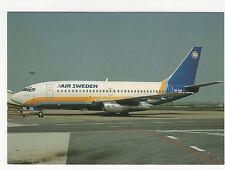 Air Sweden Boeing 737-205 Aviation Postcard, A746