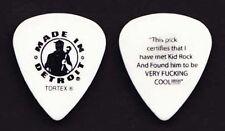 Kid Rock Signature White Guitar Pick - 2011 Tour