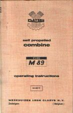 CLAYSON COMBINE M89 OPERATORS MANUAL - M 89