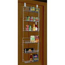 Over Door Storage Basket Rack Shelf Holder Pantry Steel Case Kitchen Closet Hang