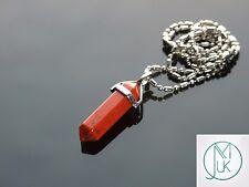 Red Jasper Crystal Point Ciondolo Collana Pietra preziosa Naturale Pietra di guarigione chakra