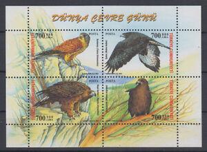 Turkey fauna-birds mini sheet 2004 MNH **