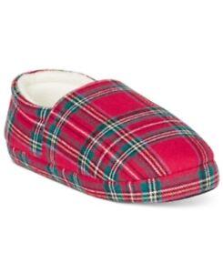 Family Pajamas Boys' or Girls' Unisex Holiday Brinkley Plaid Slippers