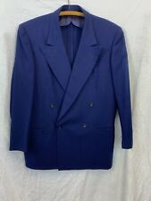 Vintage 40s Wool Double Breasted Suit Usa Mens Large Size See Measurements