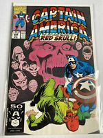 Captain America 394 Marvel Comics 1991 VF + NM - 8.5 - 9.0 Levins Red Skull Cvr