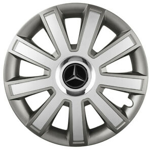 "16"" Wheel trims fit Mercedes Sprinter 2006 - onwards 4x16 inches silver graphite"